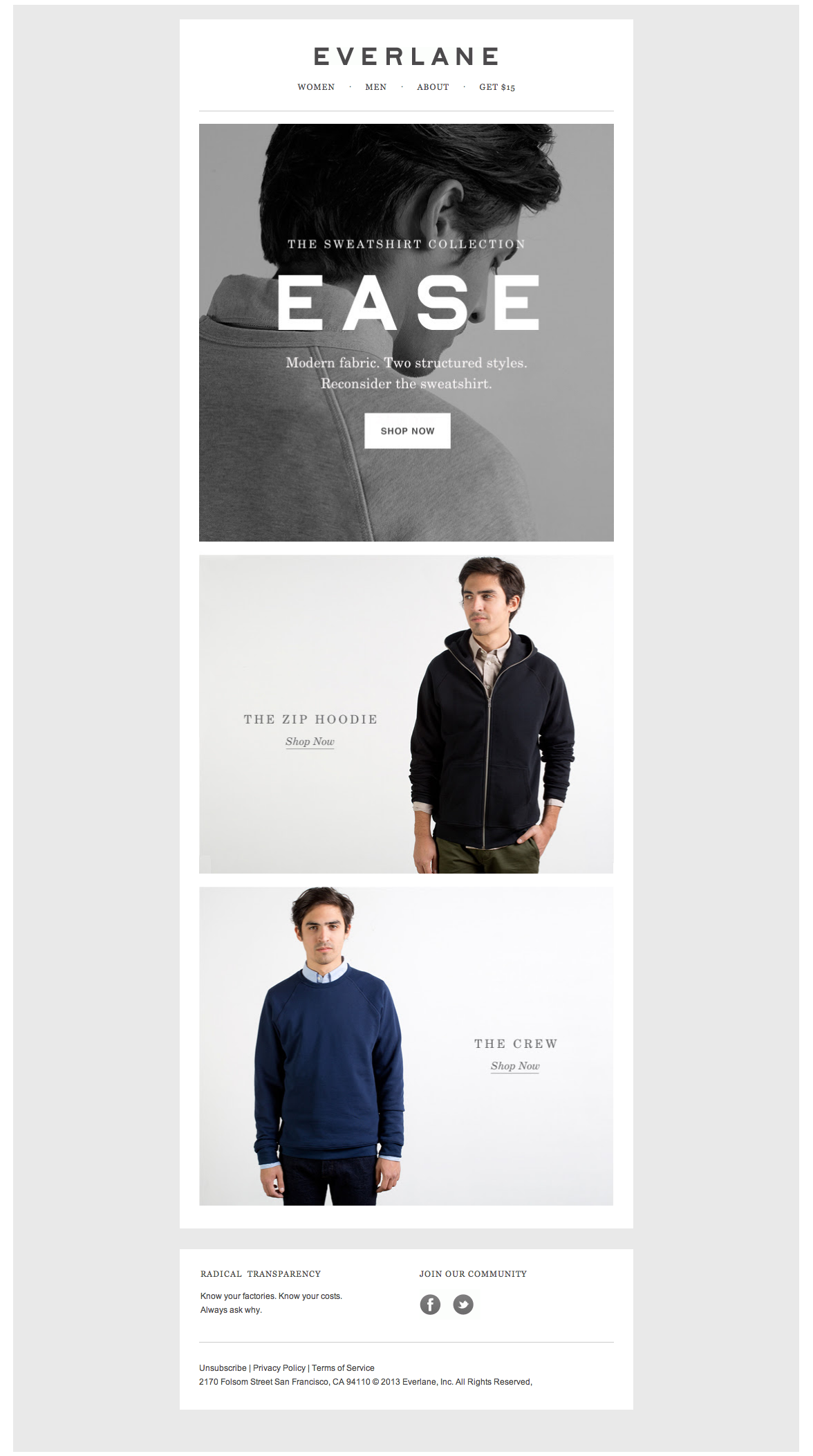 Everlane Email example