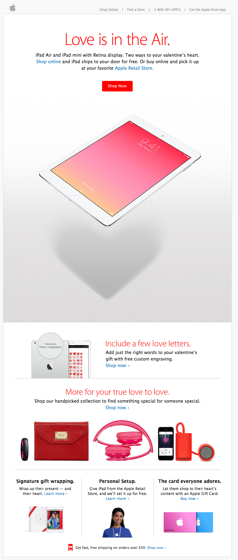 Valentine's Day Email - Apple