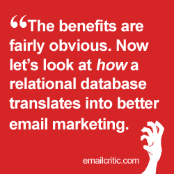 relational database email marketing